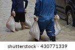 Sand Bag For Flood Crisis .