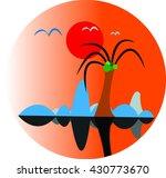 island icon vector logo picture ...