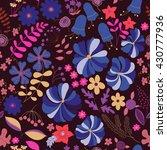 vector flower pattern. colorful ... | Shutterstock .eps vector #430777936