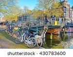 the typical amsterdam street in ... | Shutterstock . vector #430783600