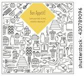 set of kitchen utensils and... | Shutterstock .eps vector #430789096