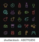 set of elegant universal... | Shutterstock .eps vector #430791850