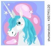 portrait of a unicorn with a... | Shutterstock .eps vector #430795120