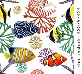 Watercolor Tropical Fish ...