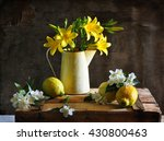 still life with lemon and... | Shutterstock . vector #430800463