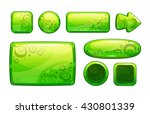 green glossy game assets set ...