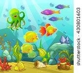 Cartoon Underwater Landscape ...