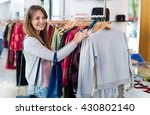 woman shopping in a clothing... | Shutterstock . vector #430802140