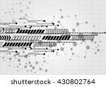 abstract technology with arrow... | Shutterstock .eps vector #430802764