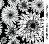 gerbera  floral pattern | Shutterstock .eps vector #430807900
