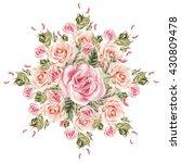 bouquet of flowers. watercolor... | Shutterstock . vector #430809478