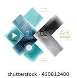 arrow option banner. vector... | Shutterstock .eps vector #430812400