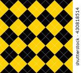Yellow Black White Chess Board...