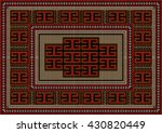 vintage carpet with ethnic... | Shutterstock .eps vector #430820449