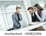 group of young people working... | Shutterstock . vector #430822306