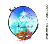 Watercolor Vector Background O...