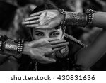 Tribal Woman Close Up Black An...