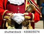 town crier in the city of... | Shutterstock . vector #430835074