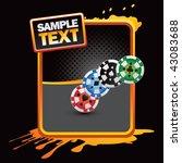 casino chips orange splattered... | Shutterstock .eps vector #43083688