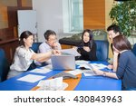 business meeting  asian people... | Shutterstock . vector #430843963
