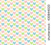seamless background hearts.... | Shutterstock .eps vector #430844020