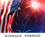 American Celebration - Usa Flag With Fireworks