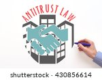 anti trust law. concepte on... | Shutterstock . vector #430856614