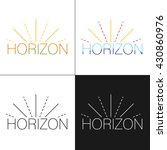 abstract horizon logo template... | Shutterstock .eps vector #430860976