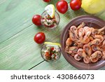 appetizer with shrimp in small...   Shutterstock . vector #430866073