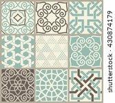 set of 9 seamless islamic... | Shutterstock .eps vector #430874179