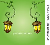 ramadan greetings background | Shutterstock .eps vector #430874416