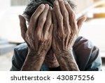 senior man covering his face...   Shutterstock . vector #430875256