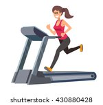 color vector young woman... | Shutterstock .eps vector #430880428