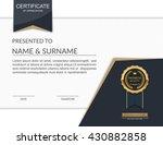 vector certificate template. | Shutterstock .eps vector #430882858