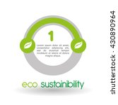 eco design. green icon.... | Shutterstock .eps vector #430890964