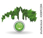 eco design. green icon.... | Shutterstock .eps vector #430892284