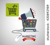 marketing online design.... | Shutterstock .eps vector #430892989