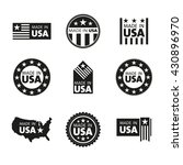 vector set of made in the usa... | Shutterstock .eps vector #430896970