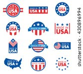 vector set of made in the usa... | Shutterstock .eps vector #430896994