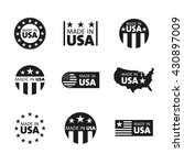 vector set of made in the usa... | Shutterstock .eps vector #430897009