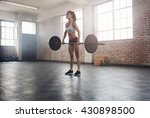 fitness woman preparing to... | Shutterstock . vector #430898500