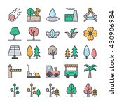 nature  park  plants  trees... | Shutterstock .eps vector #430906984