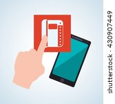 smartphone design. app concept. ... | Shutterstock .eps vector #430907449