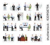 business conference  flat... | Shutterstock .eps vector #430908754