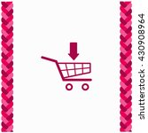shopping cart icon flat design. ...