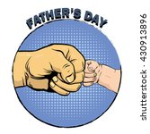 happy fathers day poster in... | Shutterstock .eps vector #430913896