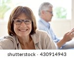 portrait of smiling senior... | Shutterstock . vector #430914943