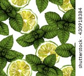 spearmint leaves with citrus...   Shutterstock . vector #430918384