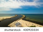 view of kolobrzeg port entrance ... | Shutterstock . vector #430920334