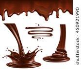 Liquid Chocolate. Splashes And...